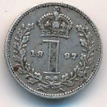 Великобритания, 1 пенни (1897 г.)
