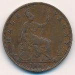 Великобритания, 1/2 пенни (1885–1889 г.)
