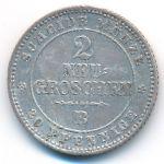 Саксония, 2 новых гроша (1865 г.)
