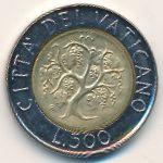 Ватикан, 500 лир (1989 г.)
