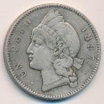 Доминиканская республика, 1 песо (1897 г.)
