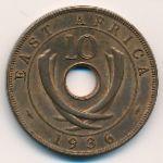 Восточная Африка, 10 центов (1936 г.)