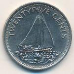 Багамские острова, 25 центов (1977 г.)