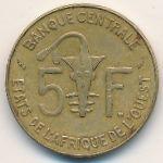 Западная Африка, 5 франков (1965–1987 г.)
