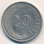 Сингапур, 20 центов (1967 г.)