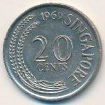 Сингапур, 20 центов (1969 г.)