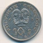 Французская Полинезия, 10 франков (1972 г.)