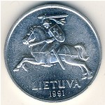 Lithuania, 5 centai, 1991