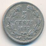 Никарагуа, 5 сентаво (1887 г.)