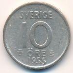 Швеция, 10 эре (1954–1960 г.)