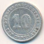 Стрейтс-Сетлментс, 10 центов (1916 г.)