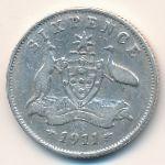 Австралия, 6 пенсов (1911–1914 г.)