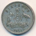 Австралия, 6 пенсов (1951 г.)