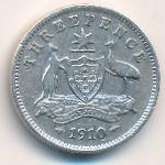 Австралия, 3 пенса (1910 г.)