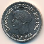 Дания, 10 крон (1986 г.)