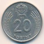 Венгрия, 20 форинтов (1983 г.)