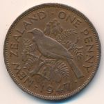 Новая Зеландия, 1 пенни (1947 г.)