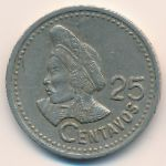 Гватемала, 25 сентаво (1997–2000 г.)