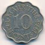 Маврикий, 10 центов (1978 г.)