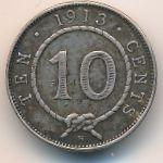 Саравак, 10 центов (1913 г.)