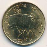 Сан-Марино, 200 лир (1981 г.)