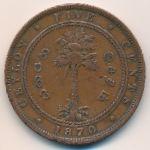 Цейлон, 5 центов (1870 г.)