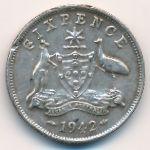 Австралия, 6 пенсов (1942 г.)