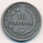 Коста-Рика, 10 сентаво (1889 г.)