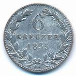 Нассау, 6 крейцеров (1835 г.)