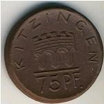 Китцинген., 75 пфеннигов (1921 г.)