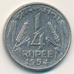 Индия, 1/4 рупии (1954–1956 г.)