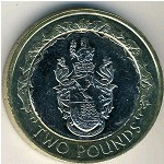 Saint Helena Island and Ascension, 2 pounds, 2003–2006