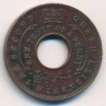 British West Africa, 1/10 penny, 1954–1957