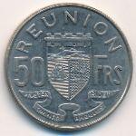 Реюньон, 50 франков (1964 г.)