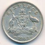 Австралия, 6 пенсов (1959–1962 г.)