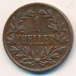 Немецкая Африка, 1 геллер (1905 г.)