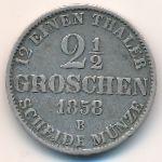 Ольденбург, 2 1/2 гроша (1858 г.)