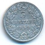 Баден, 3 крейцера (1855 г.)