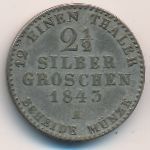 Пруссия, 2 1/2 гроша (1843 г.)