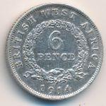 Британская Западная Африка, 6 пенсов (1914 г.)