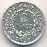 Британская Западная Африка, 3 пенса (1919 г.)