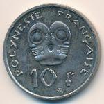 Французская Полинезия, 10 франков (2009 г.)