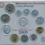 Италия, Набор монет (2001 г.)