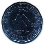 Боливия, 2 боливиано (2017 г.)