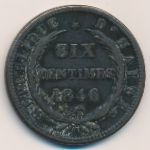 Гаити, 6 сентим (1846 г.)