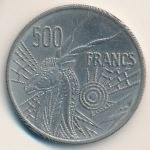 Central African Republic, 500 francs, 1976–1984