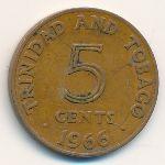 Тринидад и Тобаго, 5 центов (1966 г.)