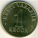 Estonia, 1 kroon, 1998–2006