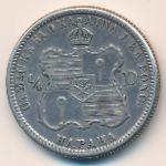 Гавайские острова, 1/4 доллара (1883 г.)