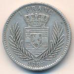 Свободный штат Конго, 1 франк (1887 г.)